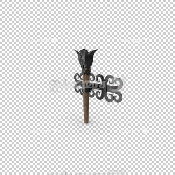 تصویر سه بعدی دوربری چوب دستی آتش