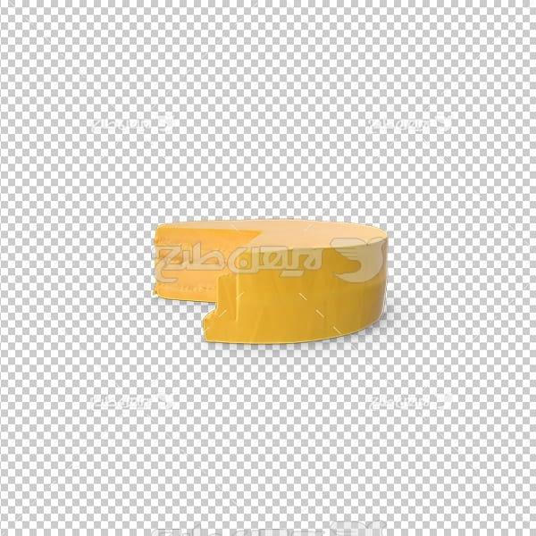 تصویر دوربری پنیر چدار