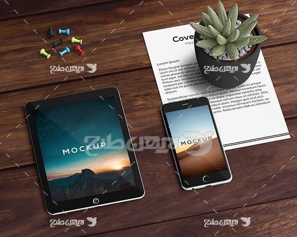 موکاپ موبایل ، تبلت و سربرگ