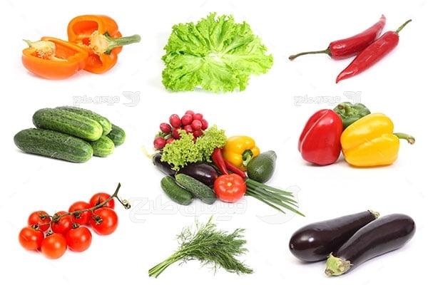عکس تبلیغاتی انواع سبزیجات