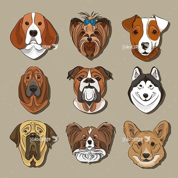 طرح گرافیکی وکتور سگ