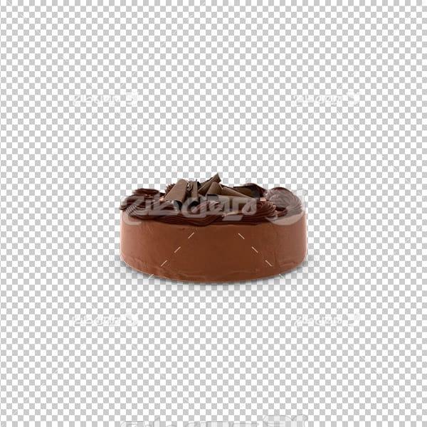 تصویر دور بری سه بعدی کیک شکلاتی
