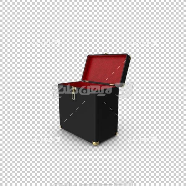 تصویر سه بعدی دوربری چمدان مشکی