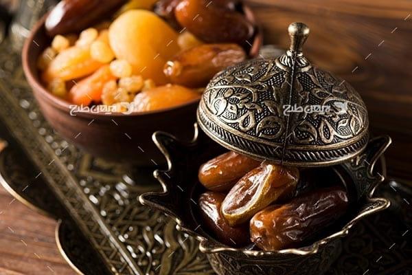 تصویر با کیفیت از افطاری و خشکبار