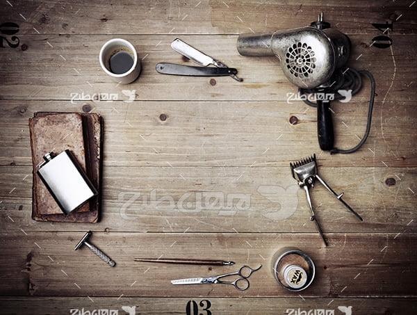 عکس لوازم آرایشگری مردانه