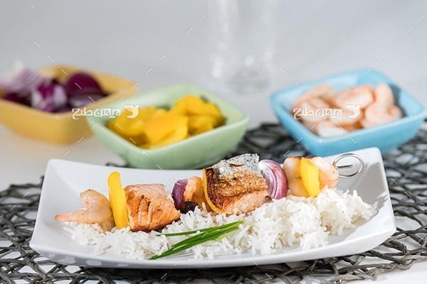 تصویر غذا،گوشت،کباب و برنج
