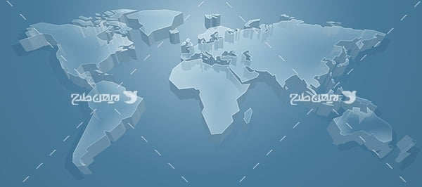 نقشه خشکی ها زمین