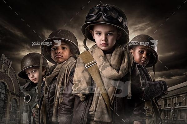 تصویر کودکان جنگ