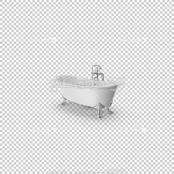 تصویر سه بعدی دوربری وان حمام