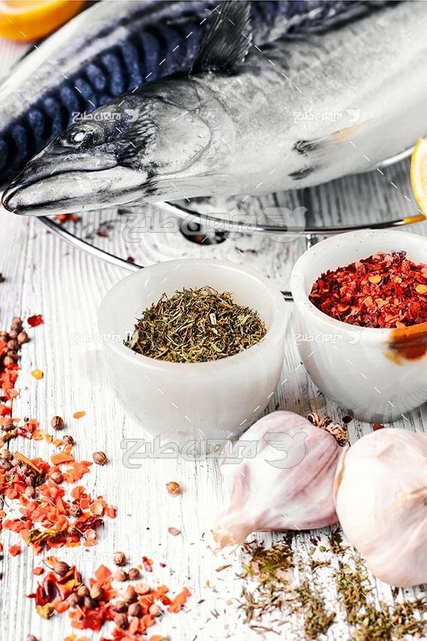 ماهی, گوشت ماهی, غذای ماهی سبزیجات لیمو
