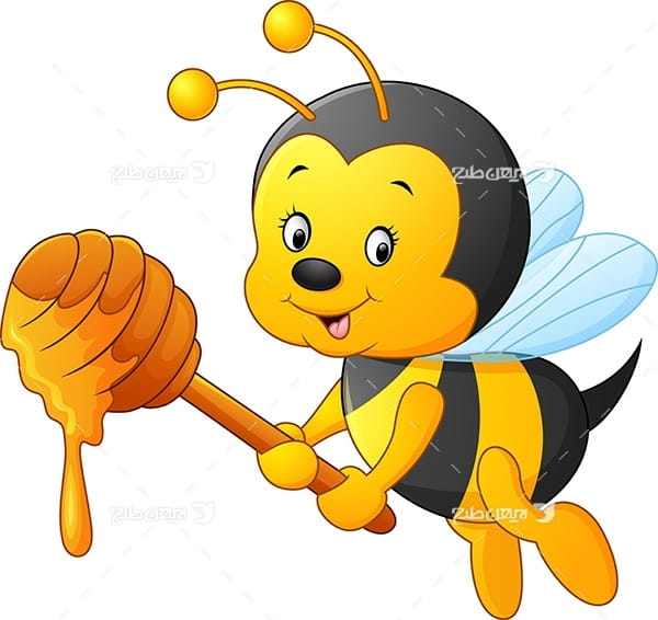 طرح گرافیکی وکتور زنبورعسل