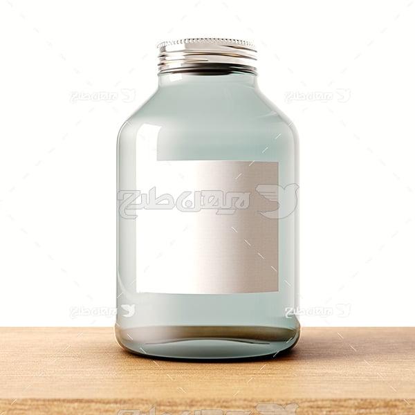 عکس عکس ظرف شیشه ای دربسته