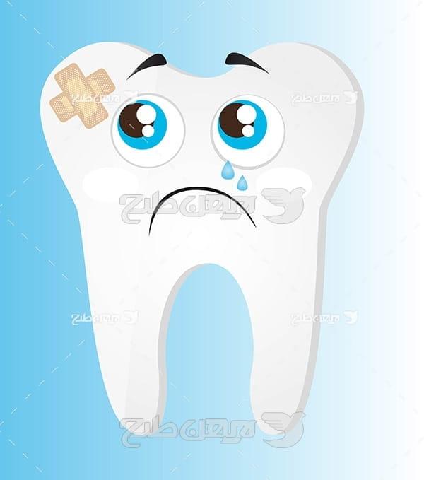 وکتور گرافیکی دندان خراب