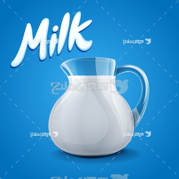 وکتور لیوان شیر