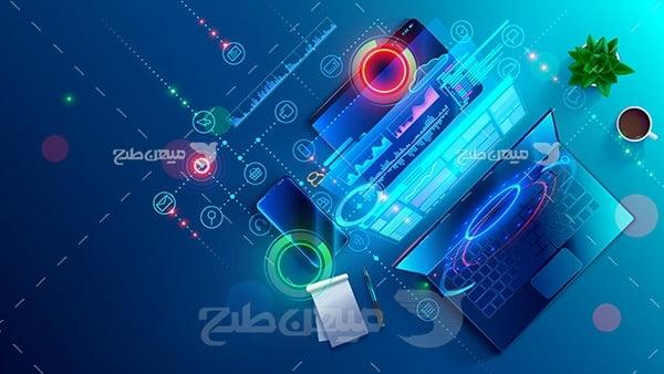وکتور کامپیوتر دیجیتال