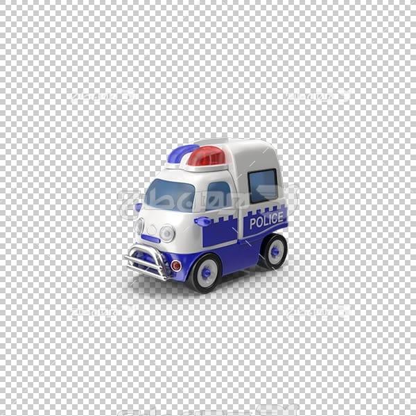 تصویر سه بعدی دوربری ماشین پلیس