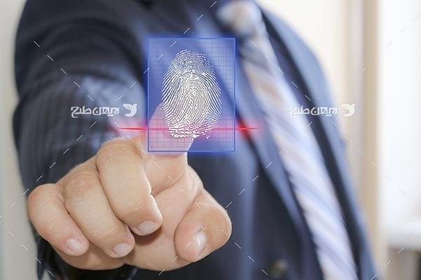 تصویر امنیت و تشخصی اثر انگشت