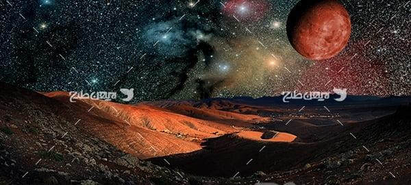 عکس سیارات فضا