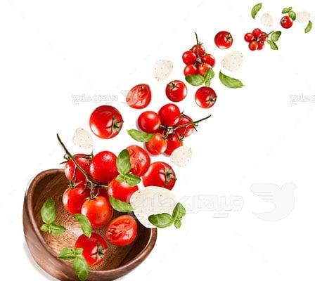 عکس تبلیغاتی افکت کاسه گوجه فرنگی