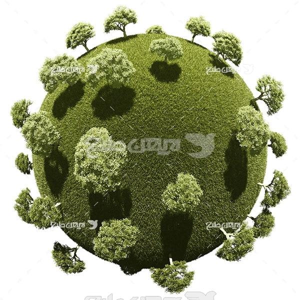 عکس محیط زیست و درختان کره زمین