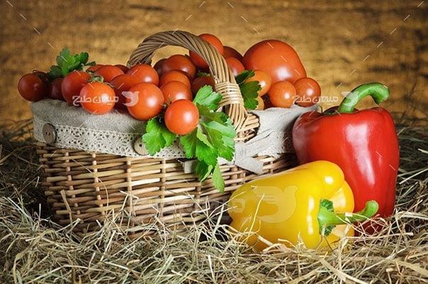 عکس تبلیغاتی سبزیجات