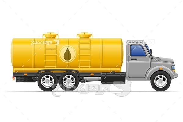 وکتور ماشین کامیون
