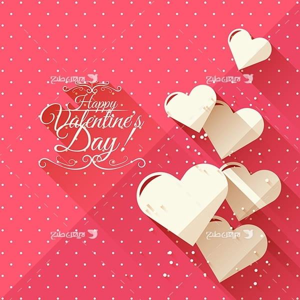 طرح وکتور قلب و عشق