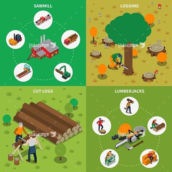 وکتور کشاورزی و قطع درختان