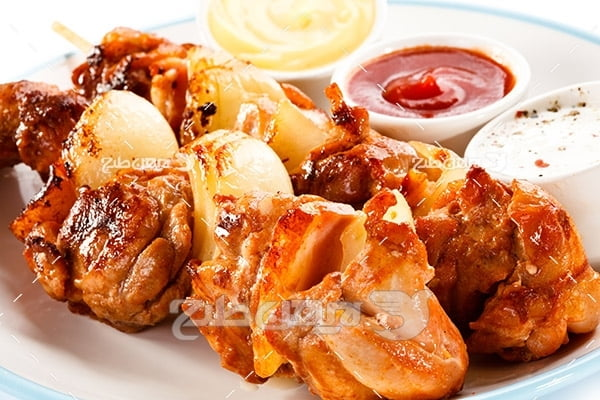 غذای کباب گوشت ماهی