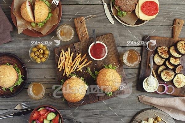 تصویر با کیفیت از ساندویچ و فست فود