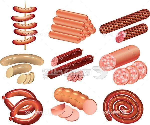 وکتور گوشت و مواد غذایی