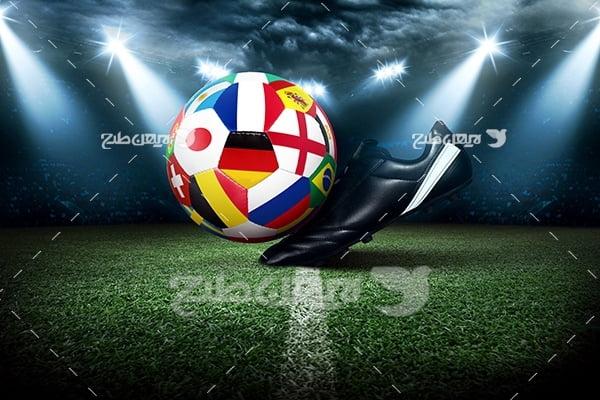 عکس توپ فوتبال