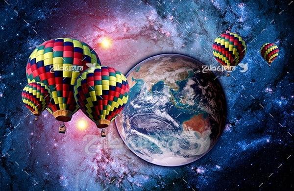 عکس بالن ها در فضا