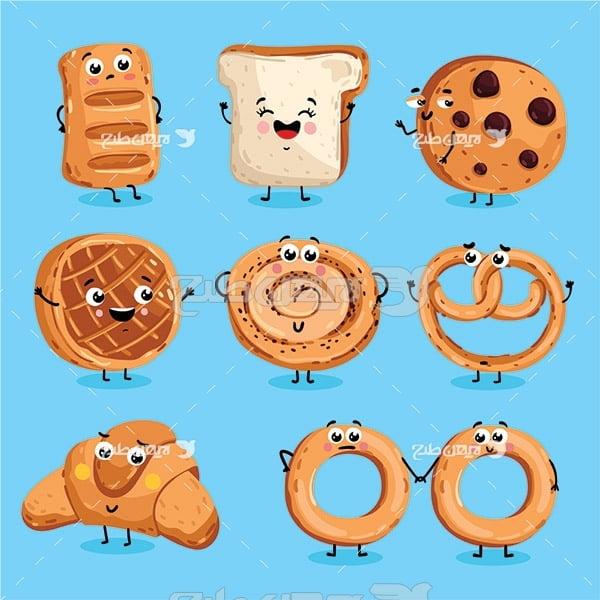 وکتور انواع نان