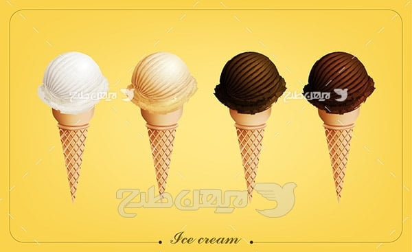 وکتور بستنی قیفی