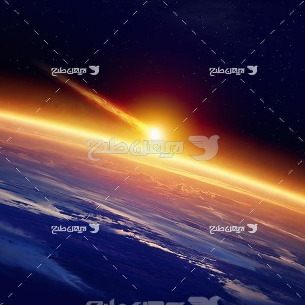 عکس اجرام نورانی در فضا
