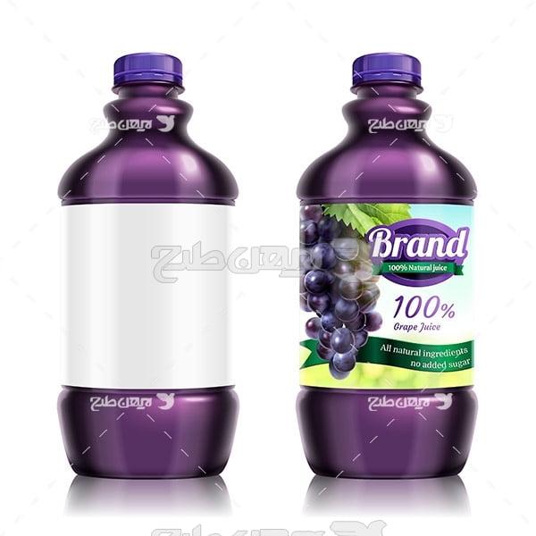 وکتور بطری آب میوه انگور