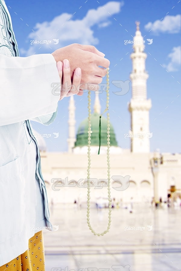 عکس دعا،تسیج و گنبد پیامبر اکرم