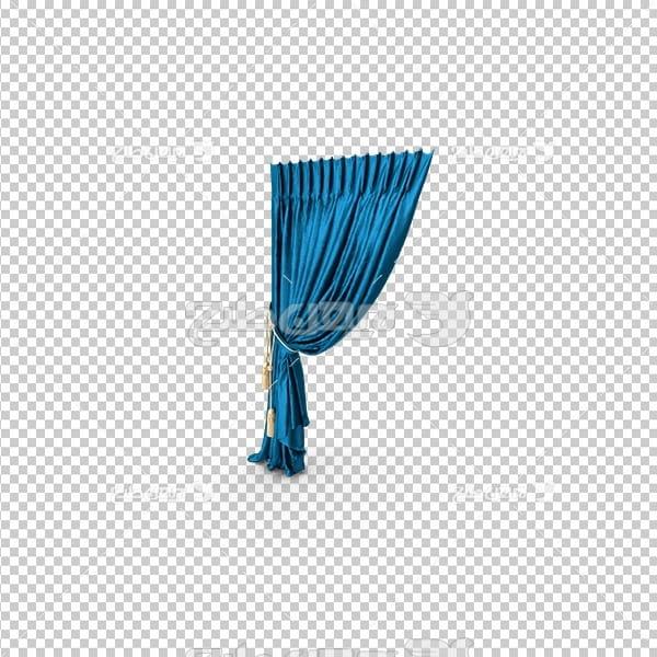 تصویر دوربری سه بعدی پرده آبی