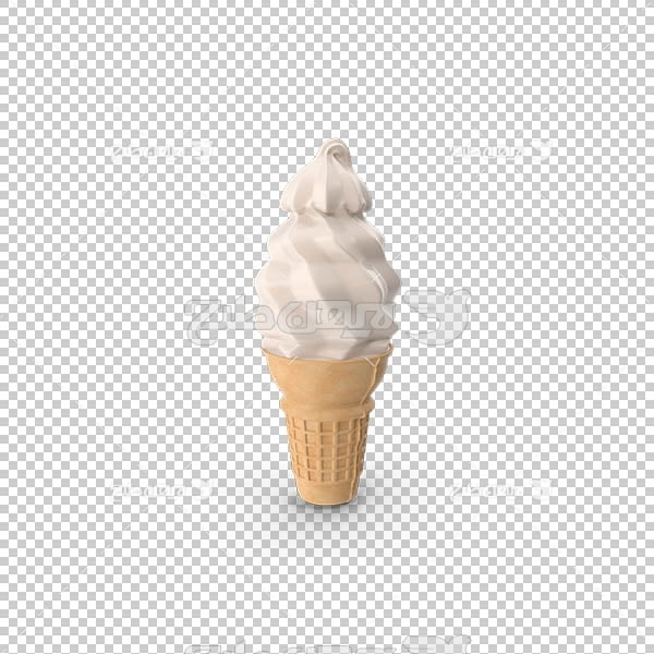 تصویر سه بعدی دوربری بستنی قیفی