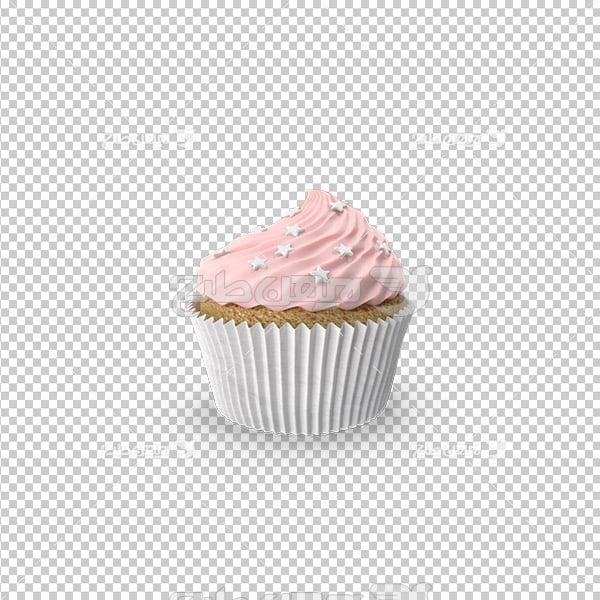 تصویر دوربری سه بعدی مواد کاپ کیک