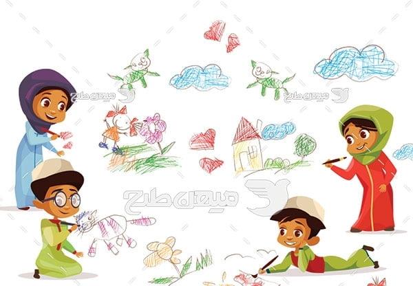 وکتور نقاشی کودکان