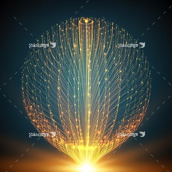 طرح وکتور بک گراند انفجار نور به شکل کره ای