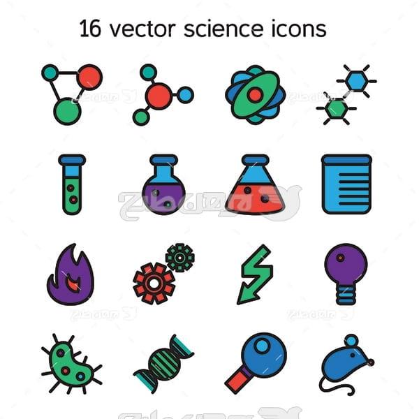 آیکن شیمی و آزمایشگاه