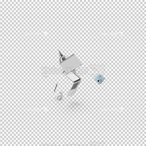 تصویر دوربری سه بعدی لب تاب و چراغ مطالعه