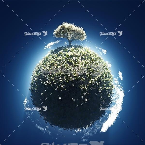 عکس کره زمین و طبیعت