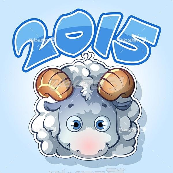 طرح وکتور حیوانات گوسفند