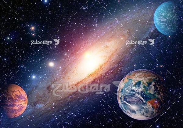 عکس سیارات در فضا
