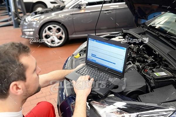 تنظیم موتور ماشین با کامپیوتر