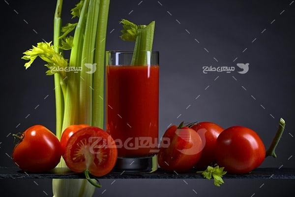 عکس آب گوجه فرنگی